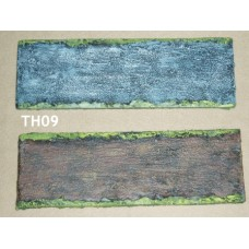 01 - TH09 - Straight Road/River Section - 15cm x 5cm Painted or unpainted
