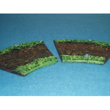 25 - TH17 - 2 x 1/2 curved road sections Painted or unpainted