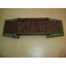 31 - TH44 - Large Wooden Bridge 9cm x 28cm Painted or unpainted