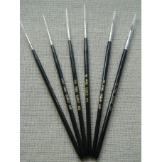 Brushes Colour Party Sable with Black Handle, size 0/2